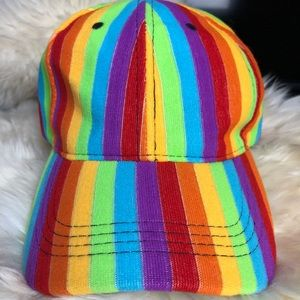 Accessories - Rainbow Baseball Hat NWOT